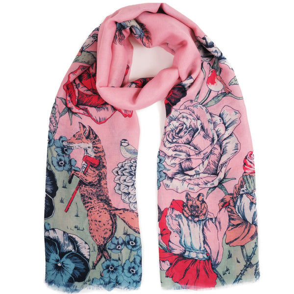 Summer Animal & Flowers Printed Fashion Scarf from Powder Uk