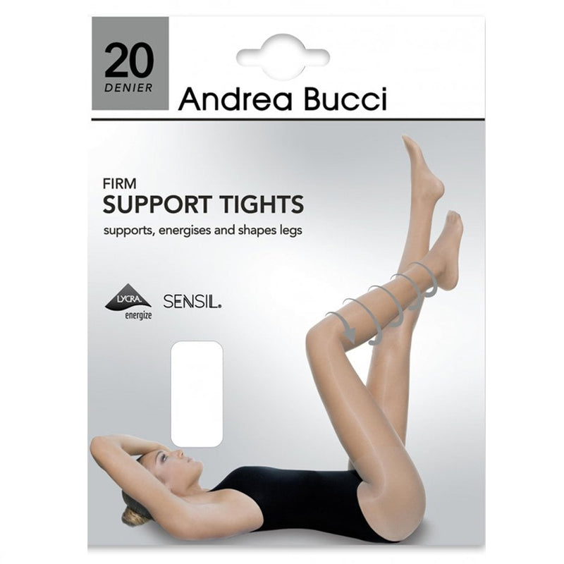 Andrea Bucci 20 Denier Firm Support Tights In Barely Black