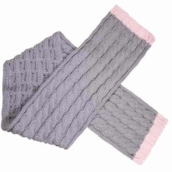 Sabbot Andrea Scarf In Grey And Pink