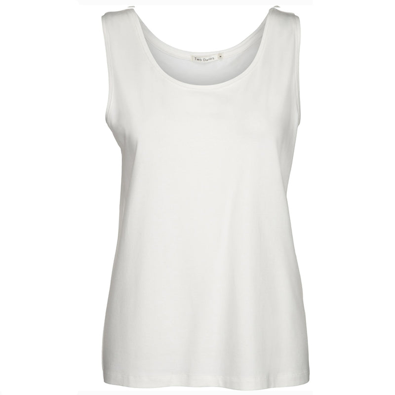 Two Danes Bea Bamboo Top In Soft White