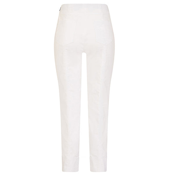 Robell 09 Bella Stretch Trouser In White
