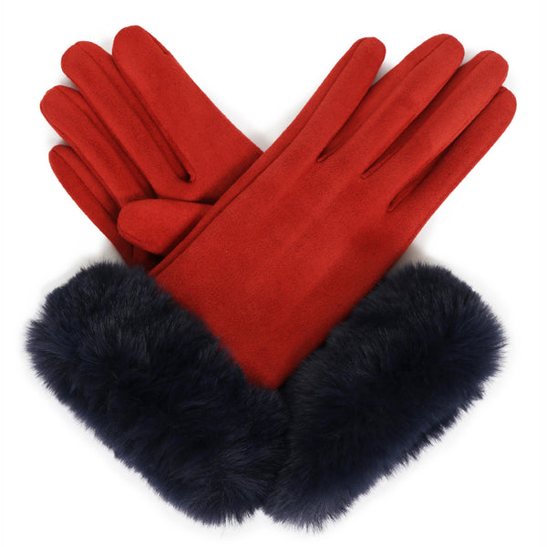 Faux Fur Suede Bettina Winter Gloves