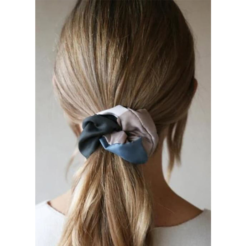 Grey, Navy, Pink, Blue Island Scrunchie By Tutti & Co Autumn Winter