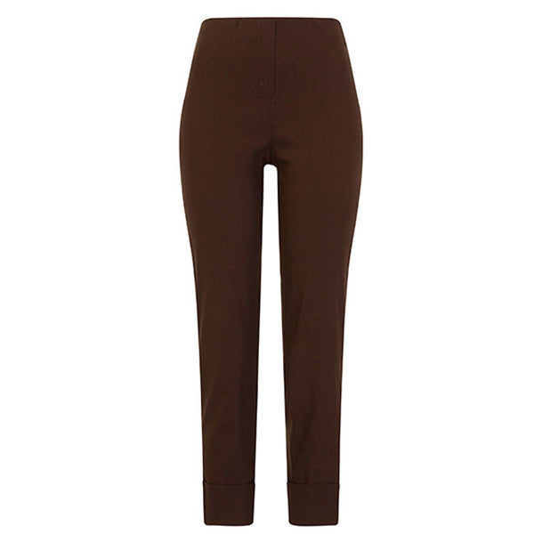 Robell 09 Bella Stretch Trouser In Dark Brown