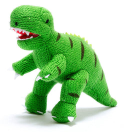 Best Years Dinosaur Toy, Knitted Mini T Rex Rattle