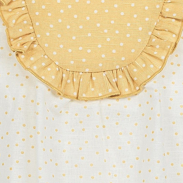 Baby Gi Spotty Romper Suit In Yellow & White
