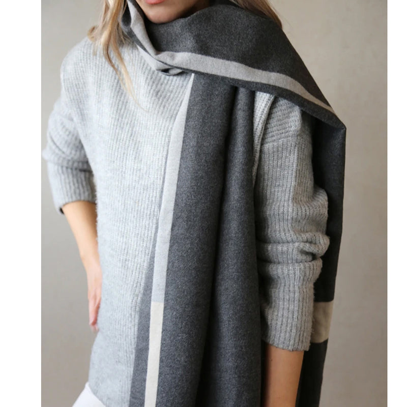 Grey Check Winter Scarf By tutti