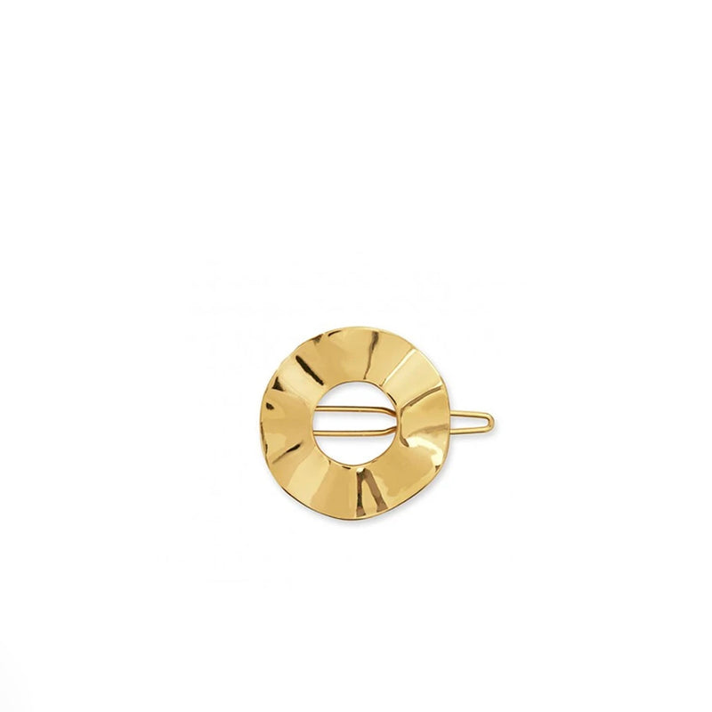 Joma Ribbon Hoop Hair Clip In Gold