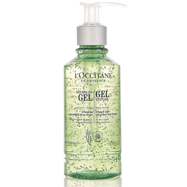 New Gel To-Foam Cleansing Gel by Locccitane