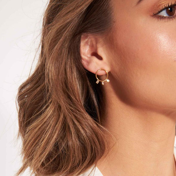 Joma Statement Crystal Circle Earrings In Gold