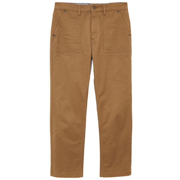 Mid Brown Cropped Denby Trousers from White Stuff