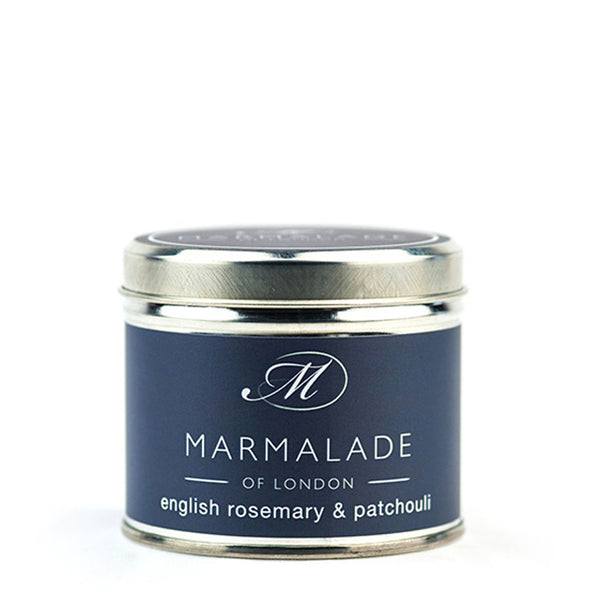 Marmalade of London English Rosemary And Patchouli Medium Tin Candle
