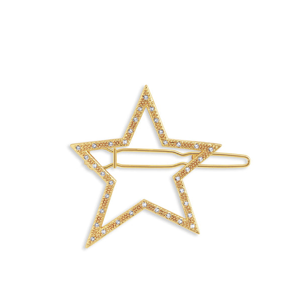 Joma Pave Star Hair Clip In Gold