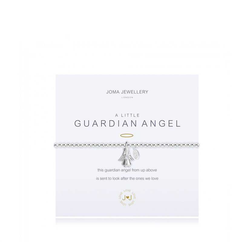 Joma A Little Guardian Angel Bracelet In Silver