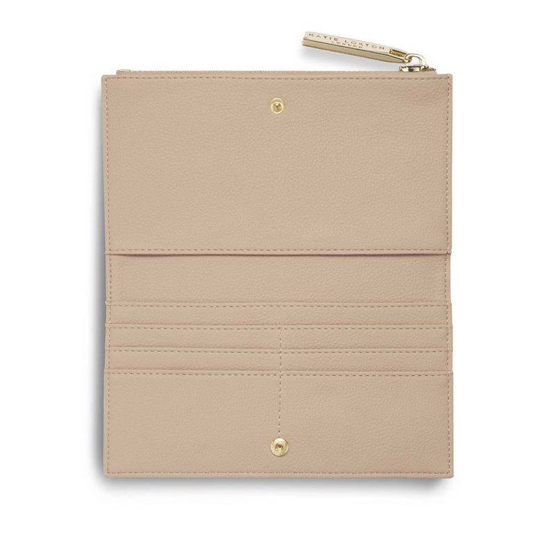 Neutral Tan Pebble Soft Alise Fold Out Purse by Katie Loxton