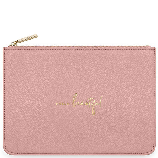 Pink Stylish Structured Pouch Clutch from Katie Loxton Accessories