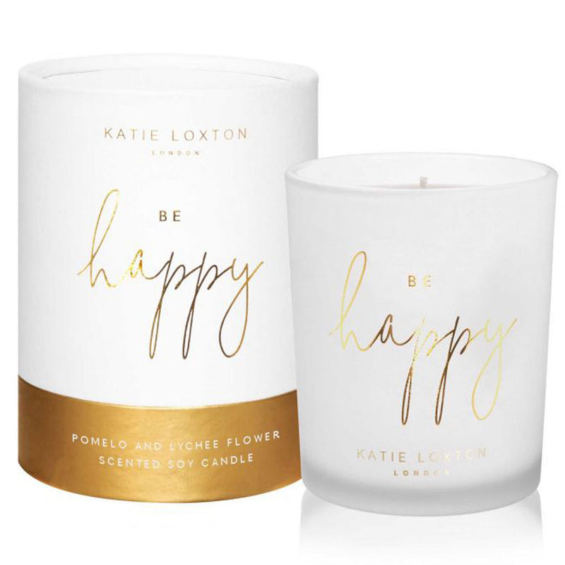 Be Happy Scented Sentiment Candle by Katie Loxton Gifts