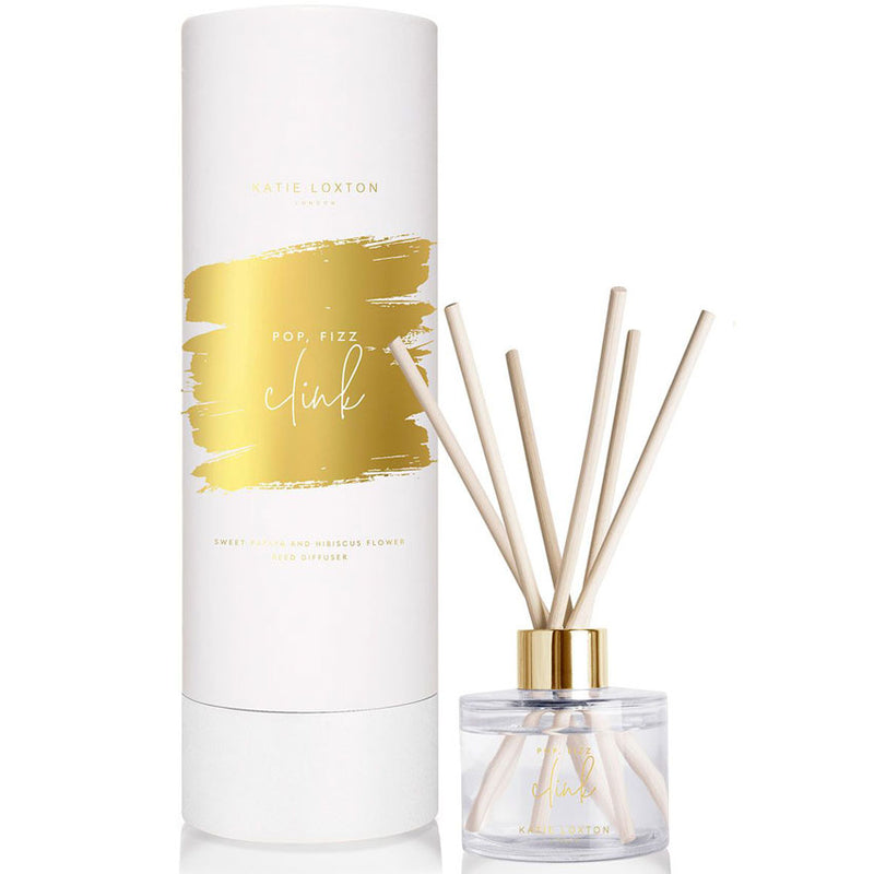 Pop Fizz Clink Papaya and Hibiscus Flower Room Scented Reed Diffuser by Katie Loxton Homeware