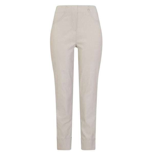 Robell 09 Bella Stretch Trouser In Light Grey