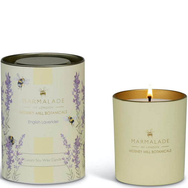 English Lavender Glass Jar Candle from Mosney Mill Marmalade of London
