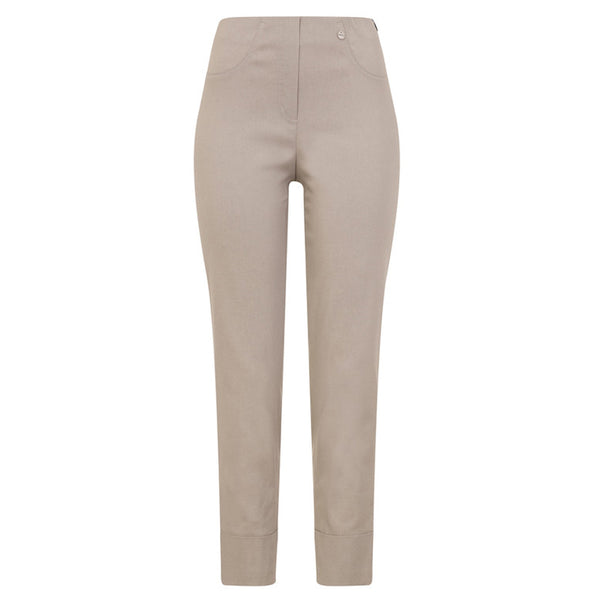 Robell 09 Bella Stretch Trouser In Light Taupe