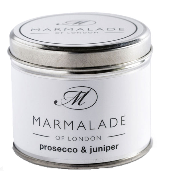 Prosecco and Juniper Scented Medium Candle Marmalade of London