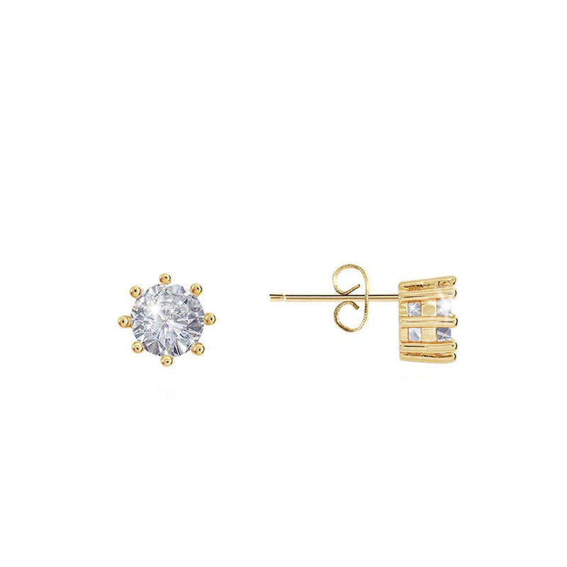 Joma Olia Crystal Stud Earrings In Gold
