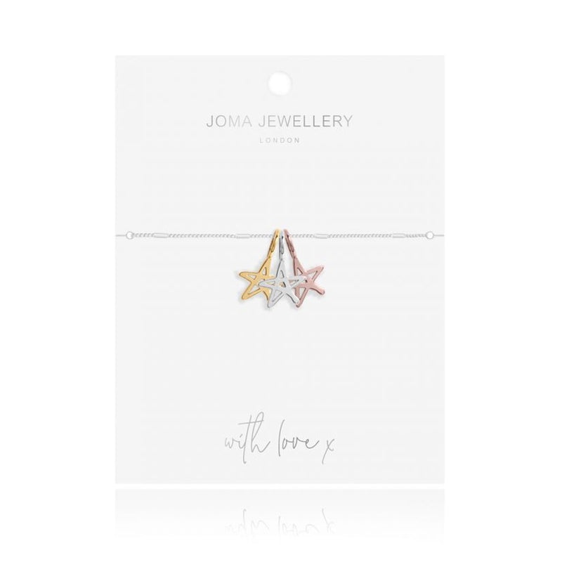 Joma Florence Outline Star Bracelet In Silver