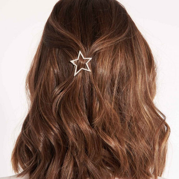 Joma Pave Star Hair Clip In Silver