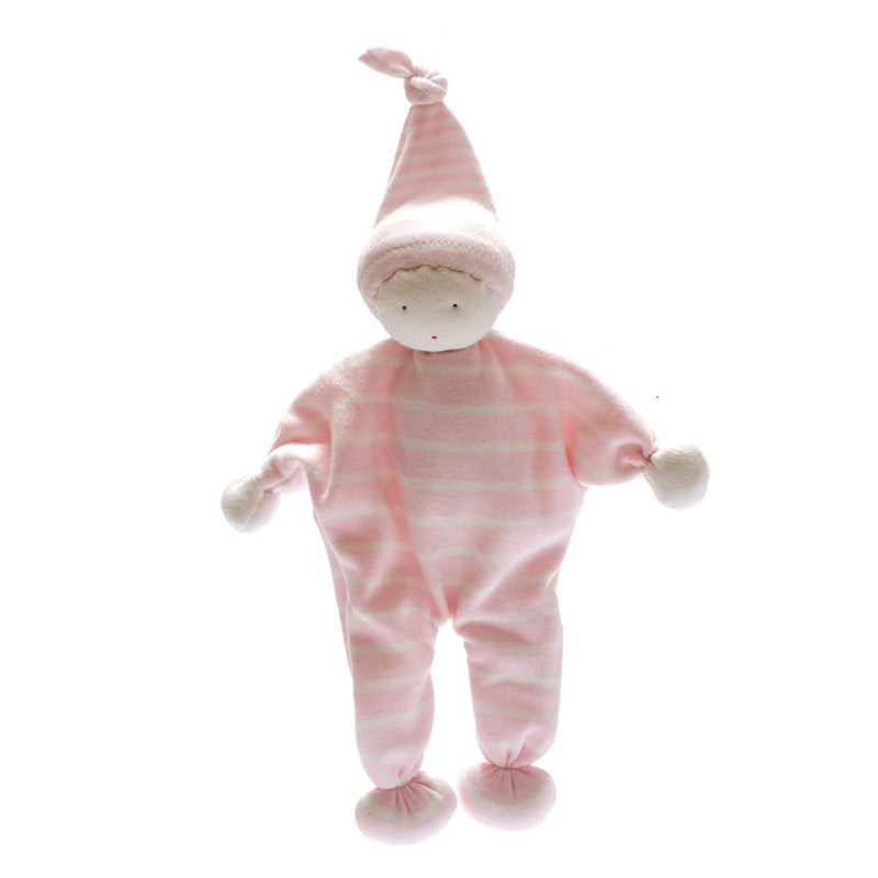 Pink Stripe Best Years Toy Gift Organic Cotton Gift White And Pink