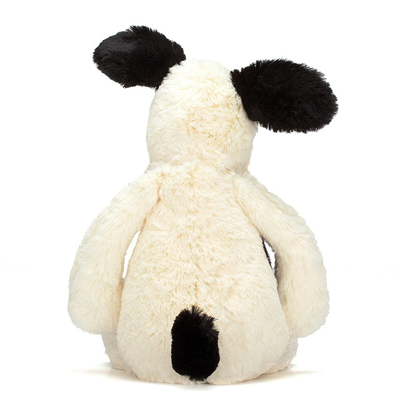 Jellycat Bashful Small Puppy In Black & Cream