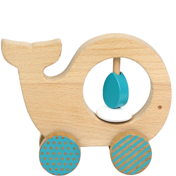 Wooden Whale Bay Toy by Eco-Friendly Brand Petit Collage