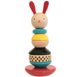 Wooden Rabbit Stacker Baby Toy from Petit Collage