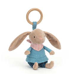 Beige Bunny Pram Clip Bunny Rambler Jellycat Blue Clothes Floppy Ears Gift