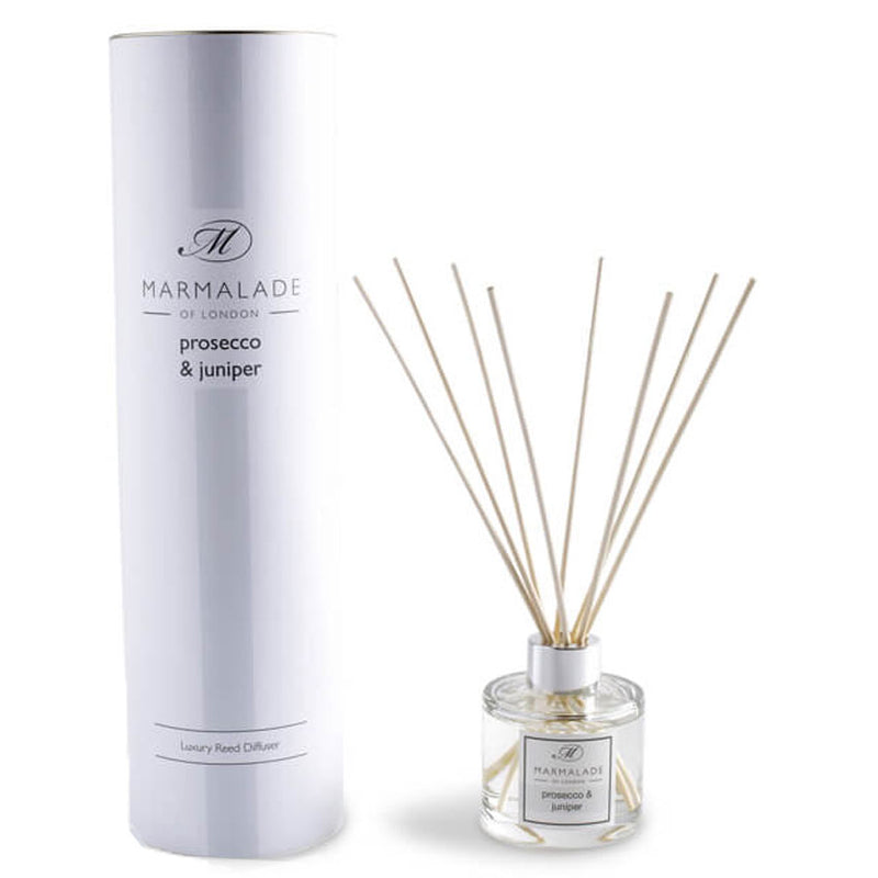 Juniper and Prosecco Scented Room Reed Diffuser by Marmalade of London