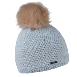 Sabbot Sigrid Bobble Hat In Skye Blue