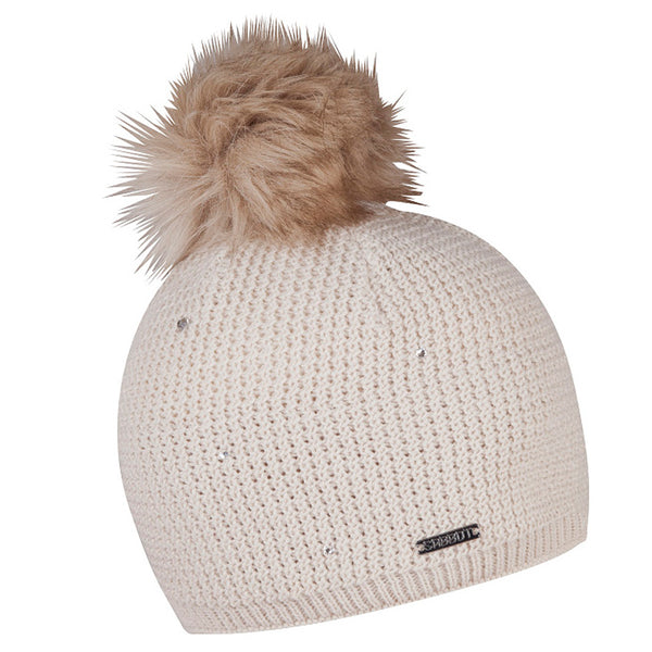 Sabbot Sigrid Bobble Hat In Cool White