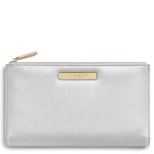 Fold Out Metallic Silver Alise Purse by Katie Loxton