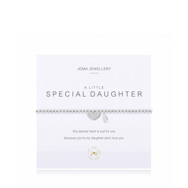 Joma A Little Special Daughter Bracelet In Silver