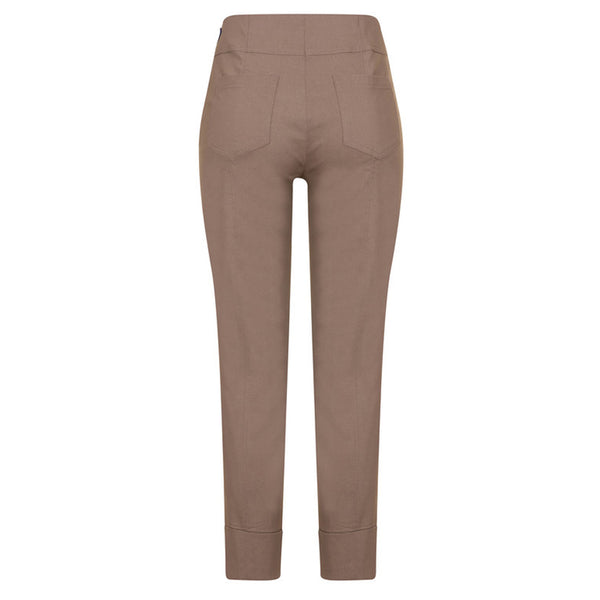 Robell 09 Bella Stretch Trouser In Taupe