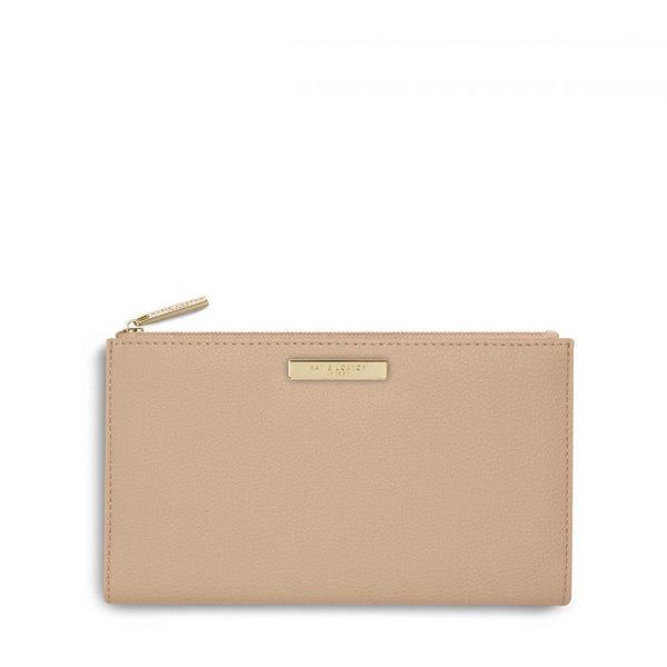Katie Loxton Alise Soft Pebble Fold Out Purse In Tan