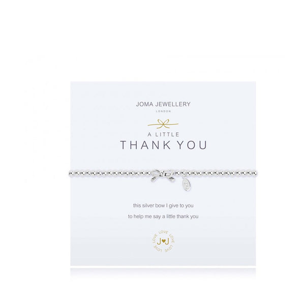 Joma A Little Thank You Bracelet In Silver
