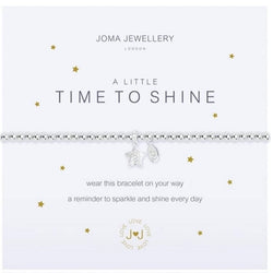 Time to Shine, Silver plated Charm Bracelet by Joma Jewellery