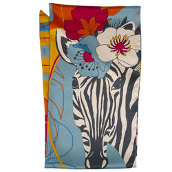 Zebra Floral Pattern Scarf from Powder