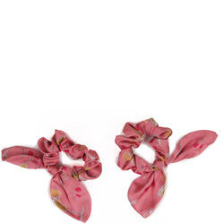 Candy Pink Scrunchie Bobble Set from Powder Accessories