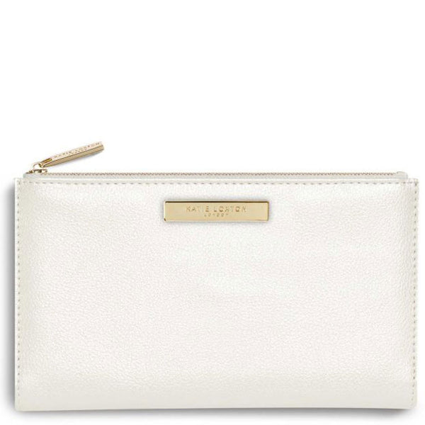Metallic White Fold Out Alise Purse from Katie Loxton