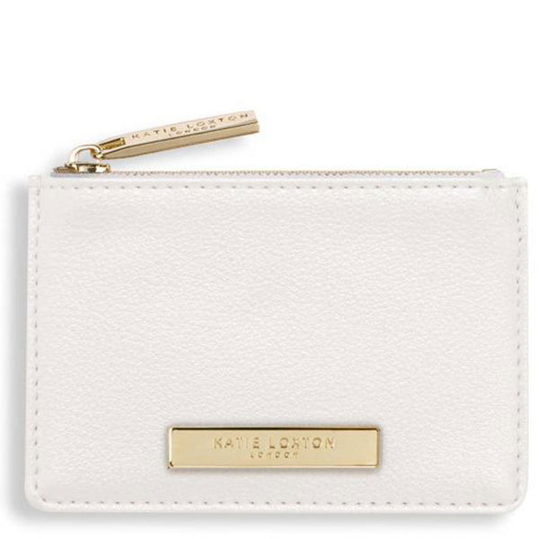 Metallic White Card Holder by Katie Loxton
