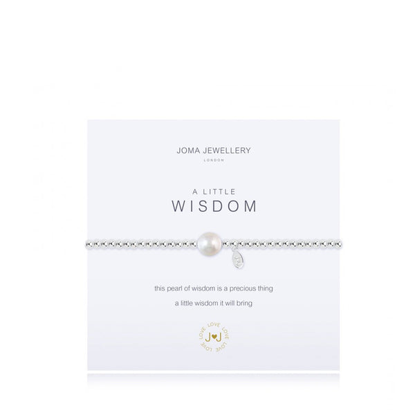 Joma A Little Wisdom Bracelet In Silver