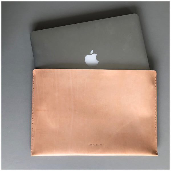 NEW! HAM & LERCHE LEATHER LAPTOP SLEEVE FOR MACBOOK AIR / MACBOOK PRO - Ham Lerche
