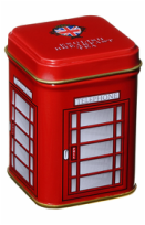 Telephone Box Tin of Loose Leaf English Tea